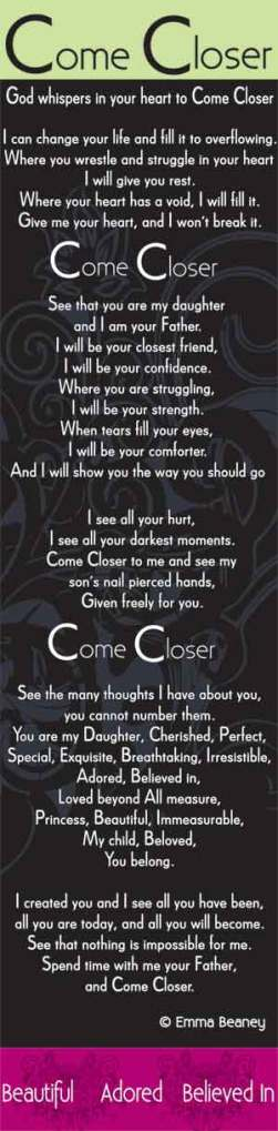 Come Closer Poem