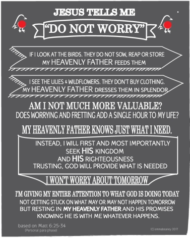 Matthew 6 v 34