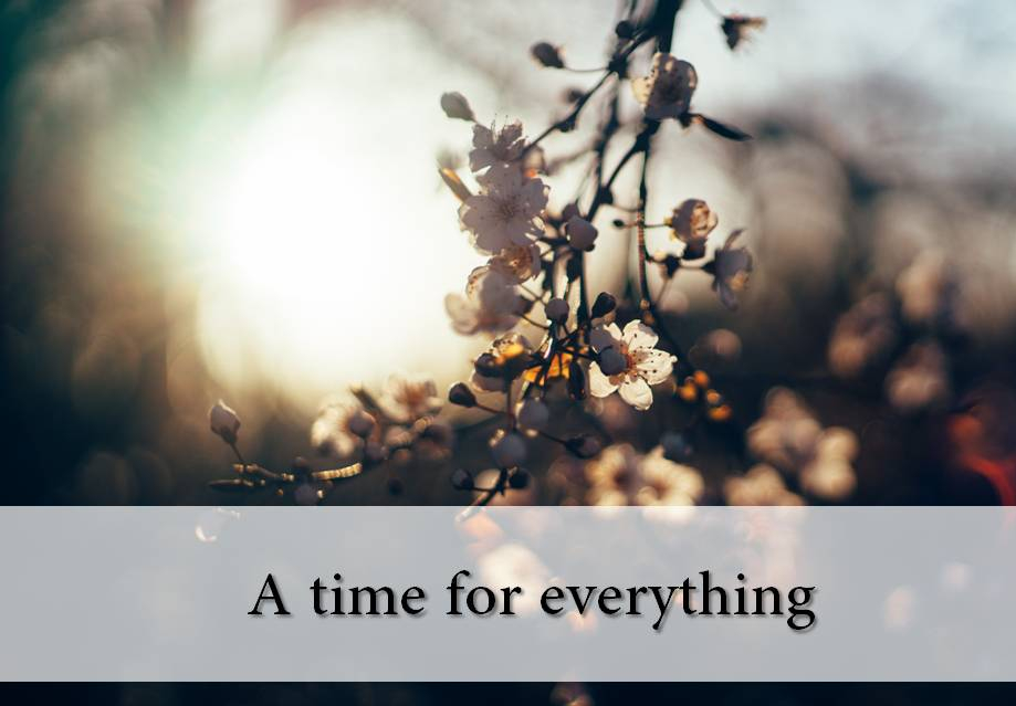 A TIME FOR